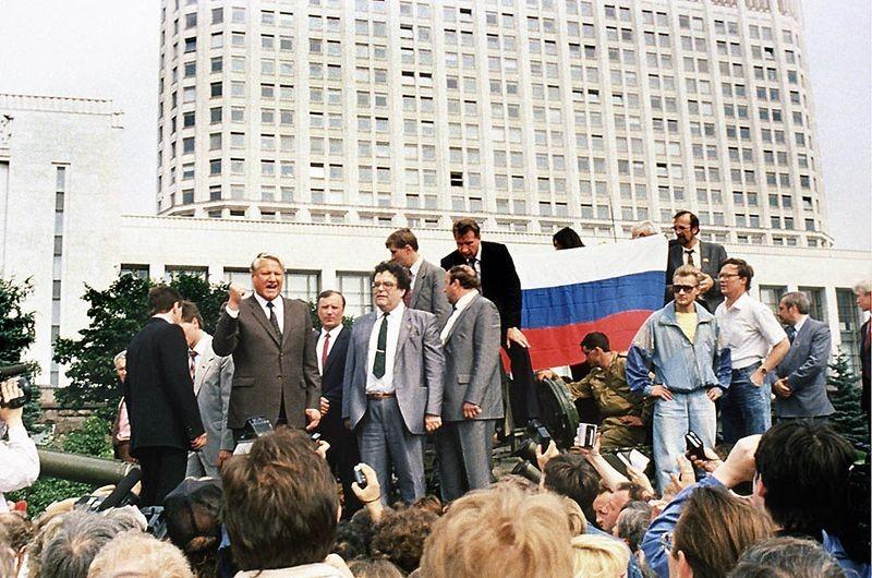 Bildergebnis für Ельцин на танке