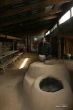 реконструкция печи  и колодца Аркаима