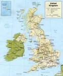 Карта Англии и Ирландии