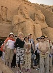 Участники экспедиции в храме Абу Симбел