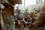 Французские и бельгийские солдаты.  Западный фронт 1917 г.